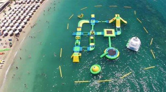 Alimos, Grecia: Drone view of  wibit open park
