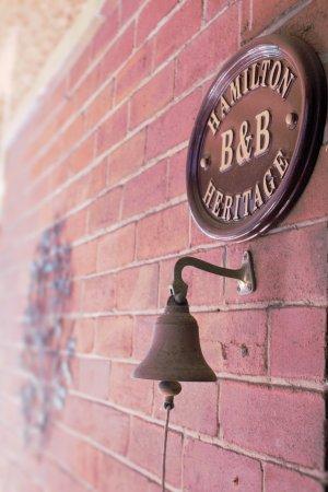 Hamilton Heritage B&B : Entrance to Hamiltion Heritage
