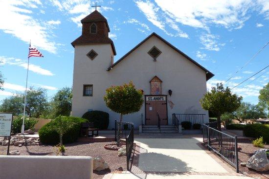 """Tubac, AZ: die Kirche """"St. Ann's"""""""