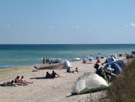 Vama Veche, Ρουμανία: Strand mit einigen zelten