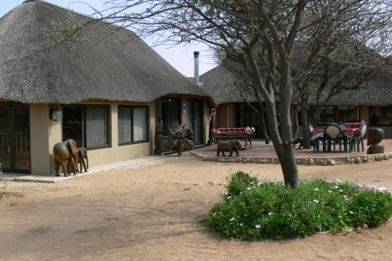 Okahandja, Namibia: From our A-la-Carte restaurant wild animals can viewed directly at the waterhole.