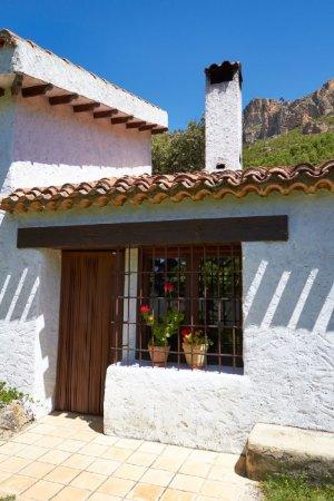Yeste, Spagna: Fachada de la cocina campera para cocinar en el fuego de la casa Camaretas 1