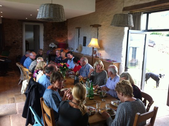 Longhope, UK: Chepstow singing workshop. What a fantastic group to feed.
