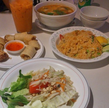 Thai Snack and Massage: Papaya Salad, Spring Rolls, Tom Yum Soup