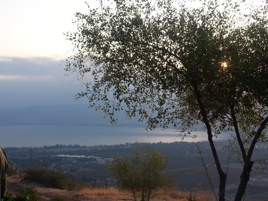 Galilee, Israele: View from the Kibbutz to the Kinnereth