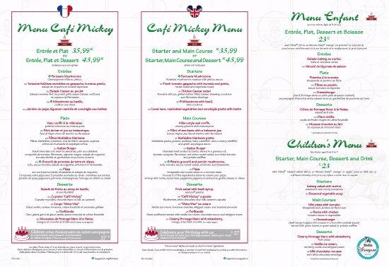 Cafe Mickey: Menú Plus