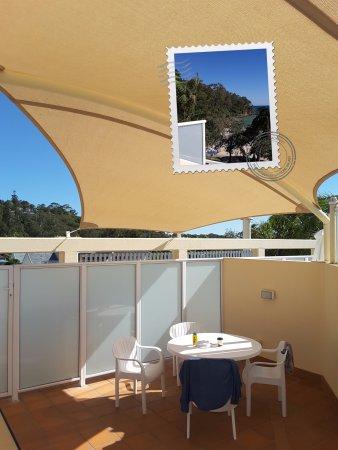 Netanya Noosa: Room 412 Rooftop Terrace with Shade Sail.
