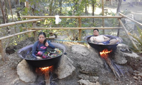 Malay, Filippinerna: Experience Hot Pot Jacuzzi in in Hacienda Maria. A day tour package of  Falls and Caving.