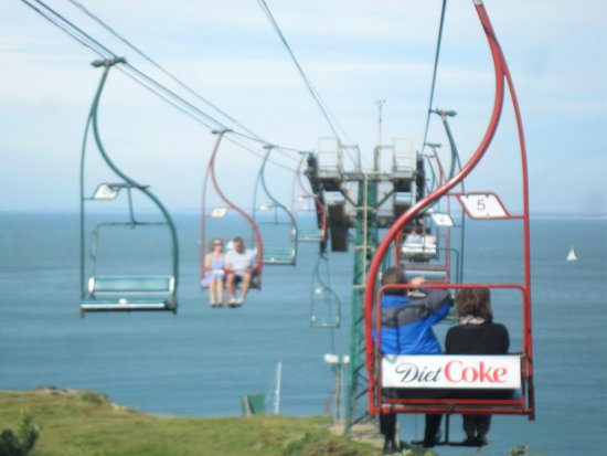 Totland, UK: over the top of chairlift