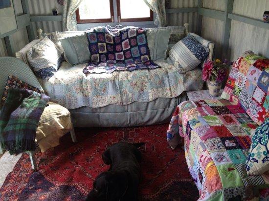 Lostwithiel, UK: Piles of quilts.