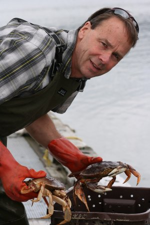 Gustavus, AK: Crabs from the dock
