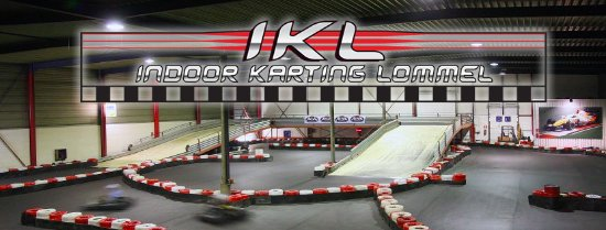 Fly over track indoor karting Lommel