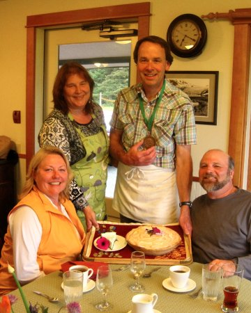 Gustavus, AK: Our guests asked us to bring out the medals, James Beard America's Classic 2010