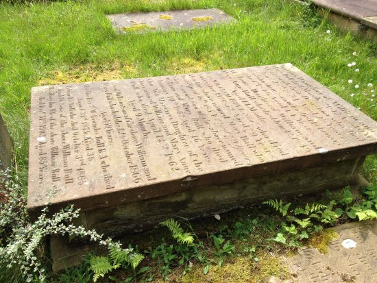 One of the many fascinating grave stones in the church yard at St John's Church, Congleton