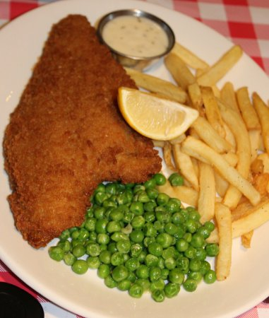 Plaice Fish and Chips only on evening meal deal menu Picture of