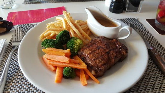 Strand, África do Sul: 250g Rump Steak with Mushroom sauce