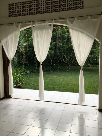 Sleman, Indonesia: View out to the garden