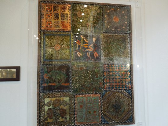 """Gallup, NM: Artistic piece """"Quilt of Many Cultures"""""""