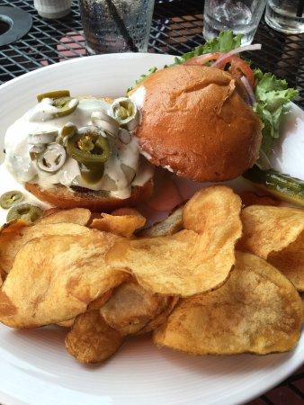 Saint Joseph, MI: Rodeo burger homemade chips