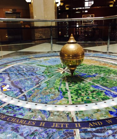 Lexington Public Library Ceiling Clock and Foucault Pendulum