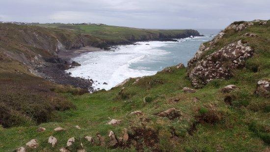 Hellarcher Farm B&B: View 1 from breathtaking coastal walk from the B&B