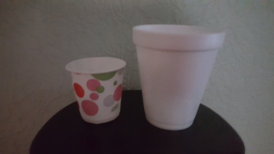 Hazleton, PA: Cups offered at breakfast, stingy