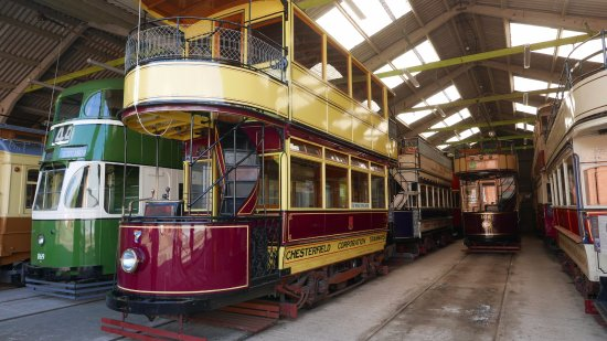 Matlock, UK : Trams currently in the garage