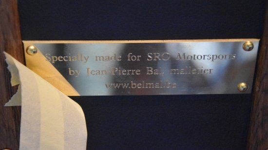 Belmal Malletier trophy case makers brass tag unveiled at Circuit of Francorchamps