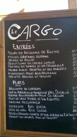 Santa-Maria-Poggio, Francia: la carte du restaurant