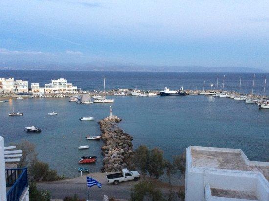 Piso Livadi, Grecia: Uitzicht, vanaf het balkon.