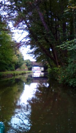 A view of the Lancaster canal taken on our canal boat holiday