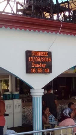 Hotel Sunberk: Wyświetlacz info i pogoda