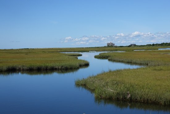 Shining Sea Bikeway: Great Sippewisset Marsh, taken from the bike path in West Falmouth.