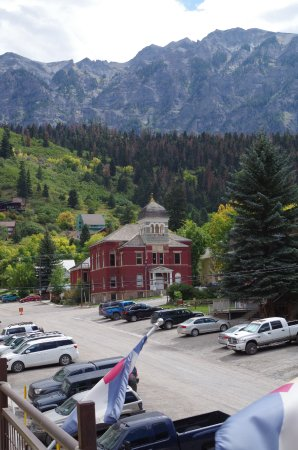 Ouray Brewery: rooftop view
