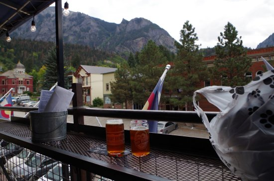 Ouray Brewery: good beer & great view