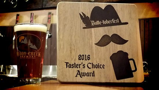 Butte, MT: 2016 Taster's Choice Award