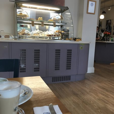 Hawick, UK: Bakery section in dining area and general restaurant view