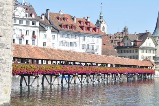 Lucerne Nightwatchman Walk: The chapel bridge