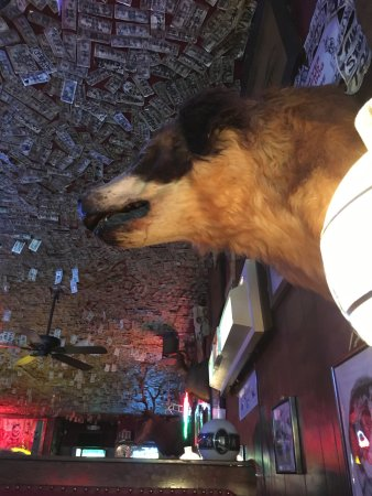 Huntsville, UT: The real thing right down to the eerily stuffed St. Bernard. While not on the menu, they do have
