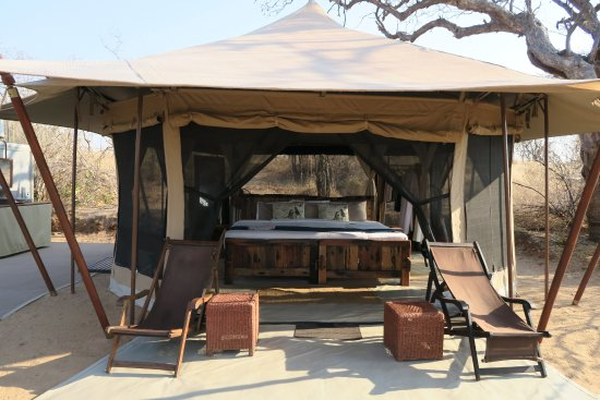 Ruaha National Park, Tanzanya: Our tent at the main camp