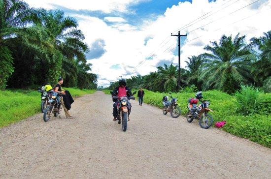 Pearl Lagoon, Nicaragua: Carretera entre el Rama y Laguna de Perlas.