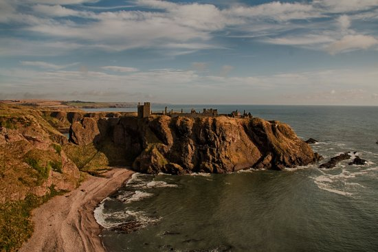 Stonehaven, UK: Dunnottar Castle from the cliff path