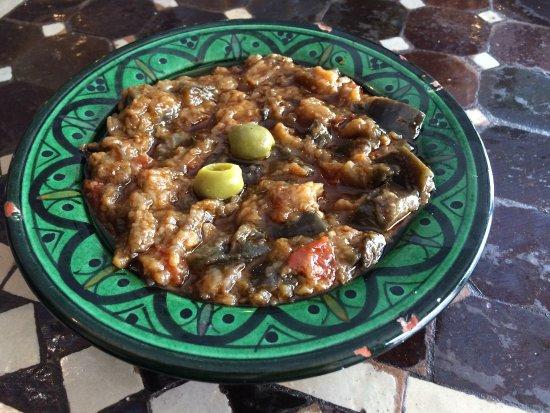 Chez Younice moroccan restaurant: Zaalouk (caviar d'aubergines)