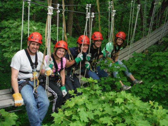 Lake Geneva Canopy Tours Family Fun On The Zip Line Tour