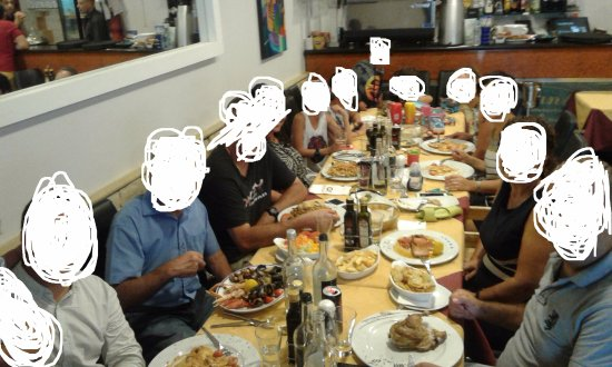 Senglea, Malta: family reunion with best food ... faces not shown for data protection