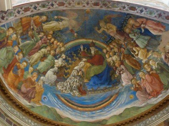 Spoleto, Italië: Particolare di un affresco di Filippo Lippi