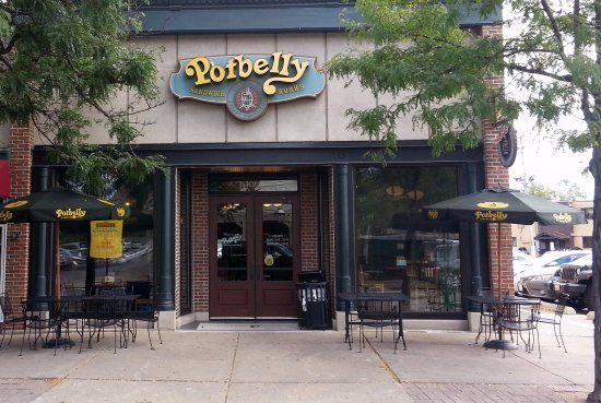 Park Ridge, IL: Front & outdoor seating for Potbelly Sandwich Works