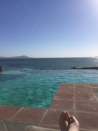 Las Rosas Hotel & Spa: infinity pool view from lounge chair