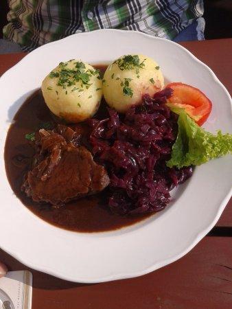Pirna, Germany: Sauerbraten, Klöße und Rotkraut