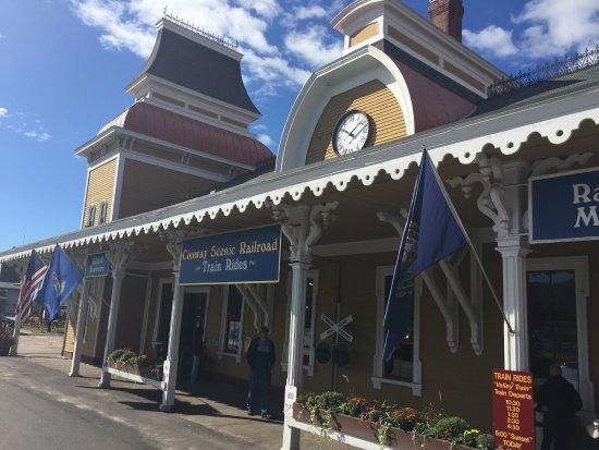 Conway Scenic Railroad: The train station